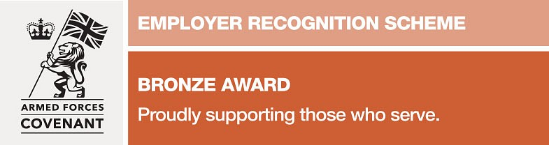 Defence Employer Recognition Scheme (ERS) bronze award